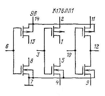 К176ЛП1 - принципиальная схема