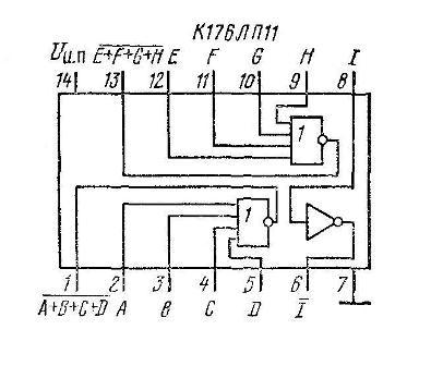 К176ЛП11 - структурная схема