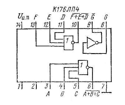 К176ЛП4 - функциональная схема