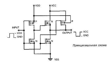 К176ПУ2 - принципиальная схема