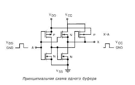 К176ПУ3 - принципиальная схема одного буфера