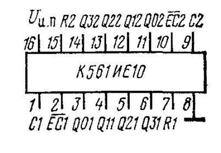 К561ИЕ10 - цоколёвка