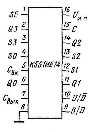 К561ИЕ14 - цоколёвка