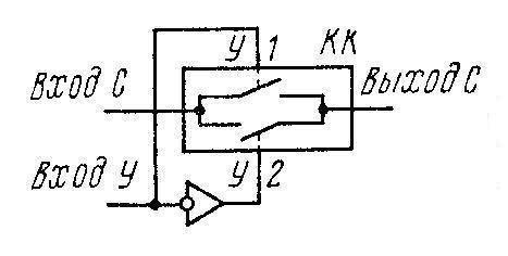 К561ИР6 (CD4034A) -схема ключа коммутации