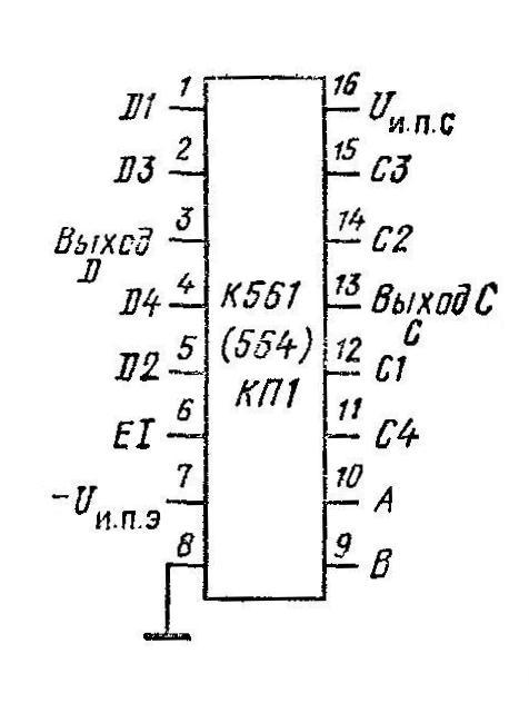 К561КП1 - цоколёвка