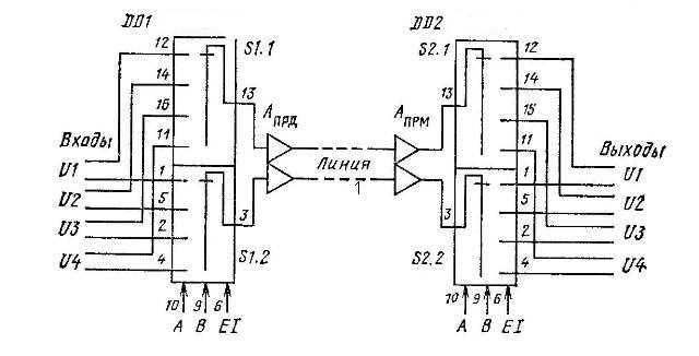 К561КП1 - дифференциальный коммутатор
