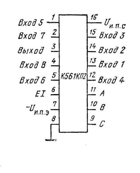 Микросхема К561КП2 ( CD4051A )