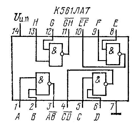 Микросхемы К176ЛА7 и К561ЛА7