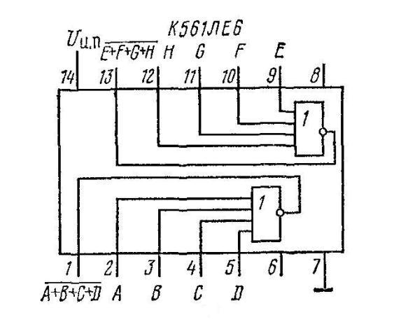 К561ЛЕ6 - функциональная схема