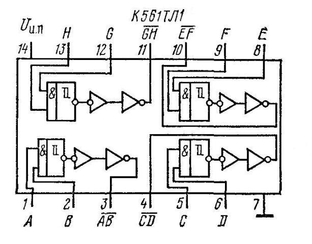 Микросхемы К561ТЛ1, КР1561ТЛ1