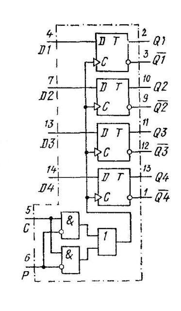 К561ТМЗ - функциональная схема