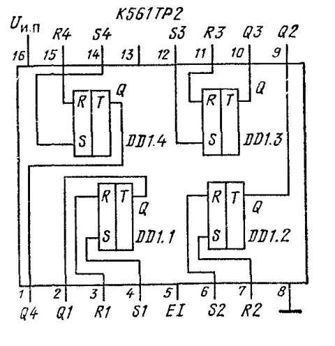 К561ТР2 - функциональная схема