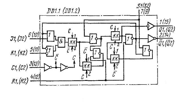 Схема одного триггера
