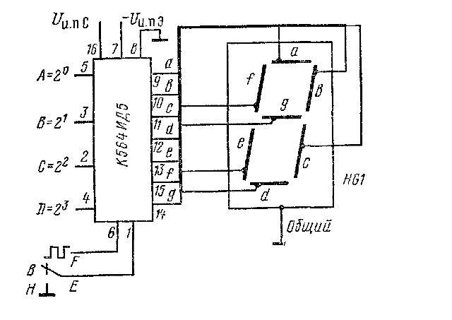 К564ИД5 - схема подключения