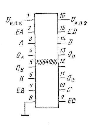 К564ПУ6 -  цоколёвка