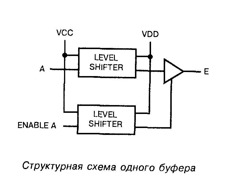 К564ПУ6 - структурная схема одного буфера