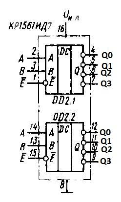 КР1561ИД7 - функциональная схема