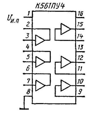 Цоколёвка микросхемы К561ПУ4