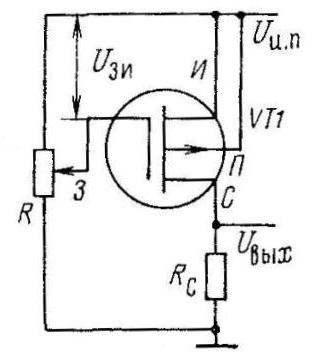 Схема снятия передаточной характеристики