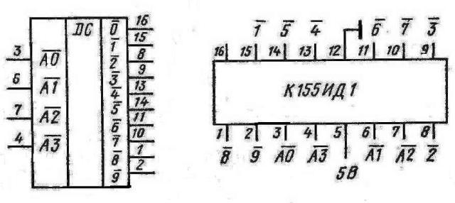 К155ИД1 дешифратор