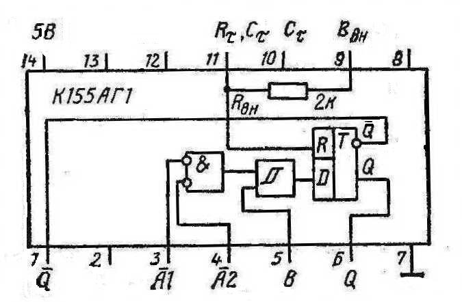 К155АГ1 мультивибратор
