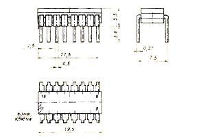 Корпус микросхемы КМ155ИД13