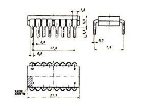 Корпус микросхемы К155ИД15