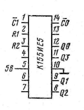 Корпус микросхемы К155ИЕ5, КМ155ИЕ5 (7493)