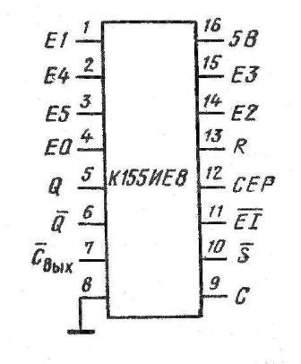 Корпус микросхемы К155ИЕ8, КМ155ИЕ8 (7497)