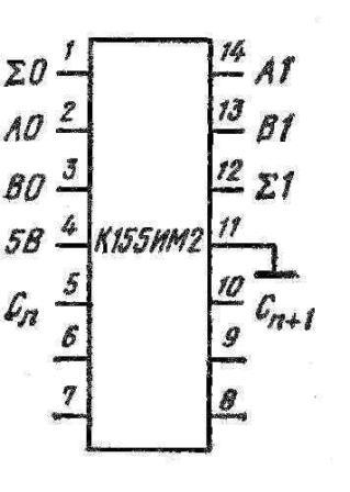 Цоколёвка сумматора К155ИМ2 КМ155ИМ2 (7482)