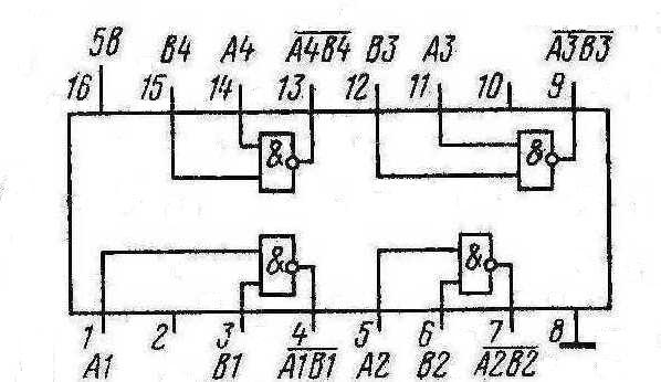 Микросхема К155ЛА12 КМ155ЛА12  7437