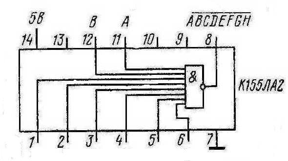 Микросхема К155ЛА2 КМ155ЛА2 (7430)