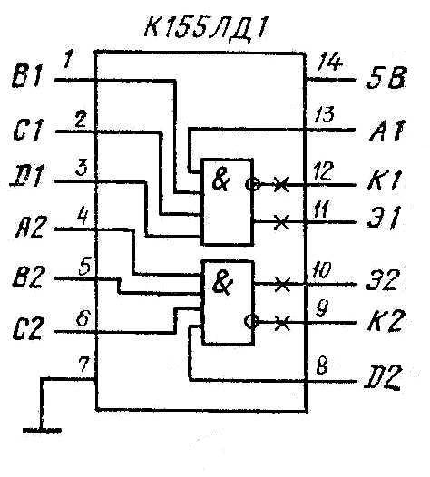 Микросхемы К155ЛД1, КМ155ЛД1