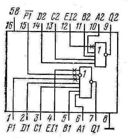 Микросхемы К155ЛЕ2, КМ155ЛЕ2 (7423)