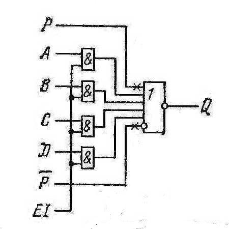Структурная схема одного элемента микросхем К155ЛЕ2, КМ155ЛЕ2 (7423)