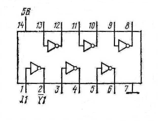 Микросхемы К155ЛН3, КМ155ЛН3