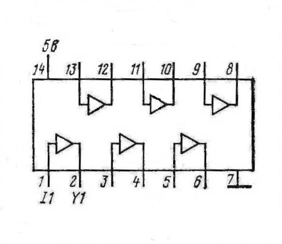 К155ЛП4 КМ155ЛП4 7417 SN7417N, SN7417J
