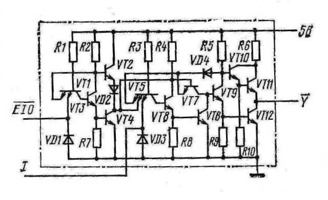 Один канал К155ЛП8, КМ155ЛП8, SN74125N, SN74125J