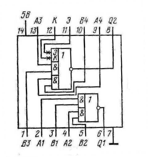 К155ЛР1 КМ155ЛР1 7450 SN7450N SN7450J