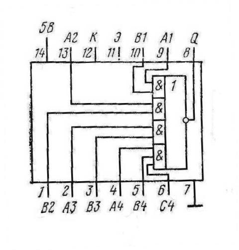 К155ЛР3 КМ155ЛЗ3 7453 SN7453N, SN7453J