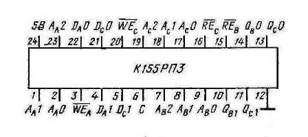 Цоколёвка К155РП3 (74172) SN74172N