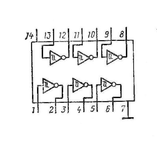 К155ТЛ2 7414 SN7414N структурная схема