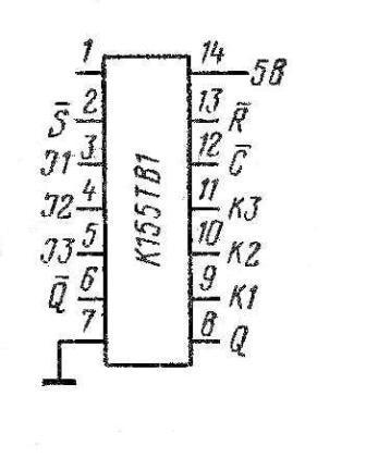 К155ТВ1,  КМ155ТВ1(7472)  цоколёвка