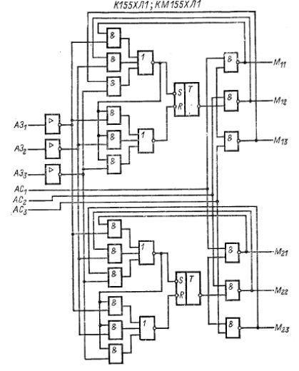 К155ХЛ1, КМ155ХЛ1 структурная схема