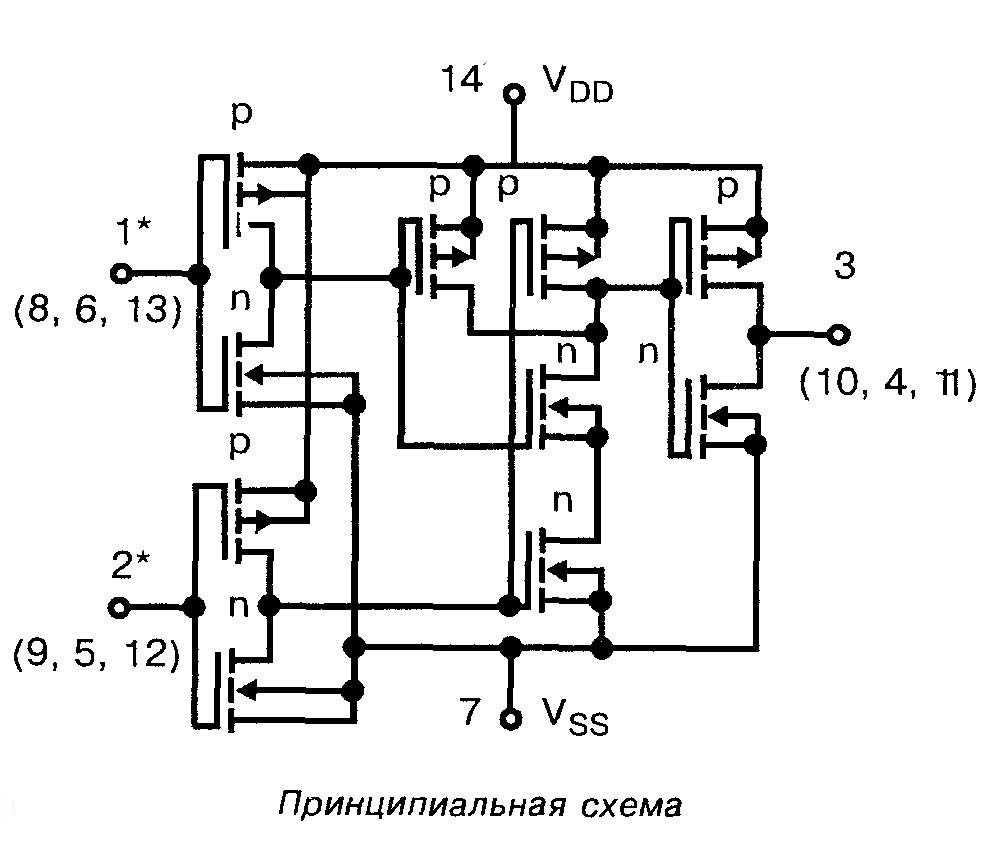 Микросхема 4000 - принципиальная схема