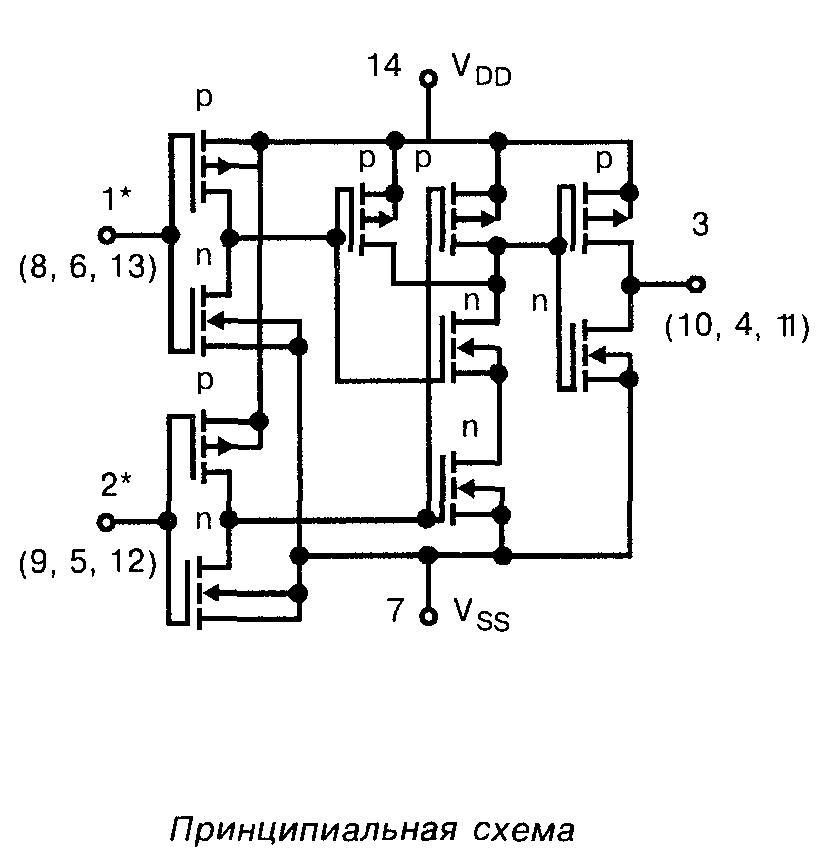 4001 - принципиалиная схема
