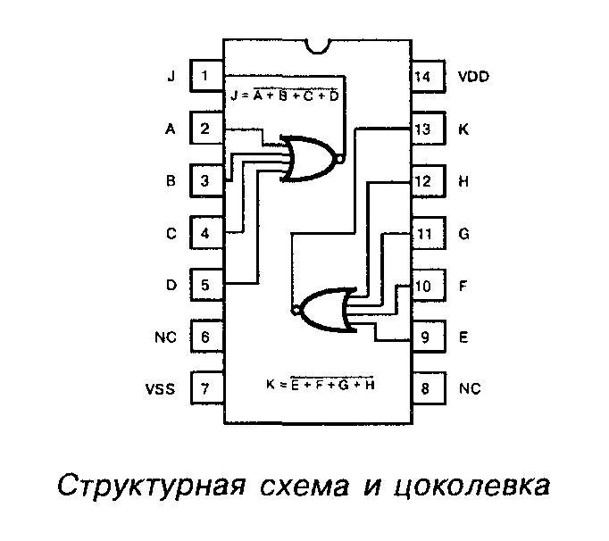 4002 - структурная схема и цоколёвка
