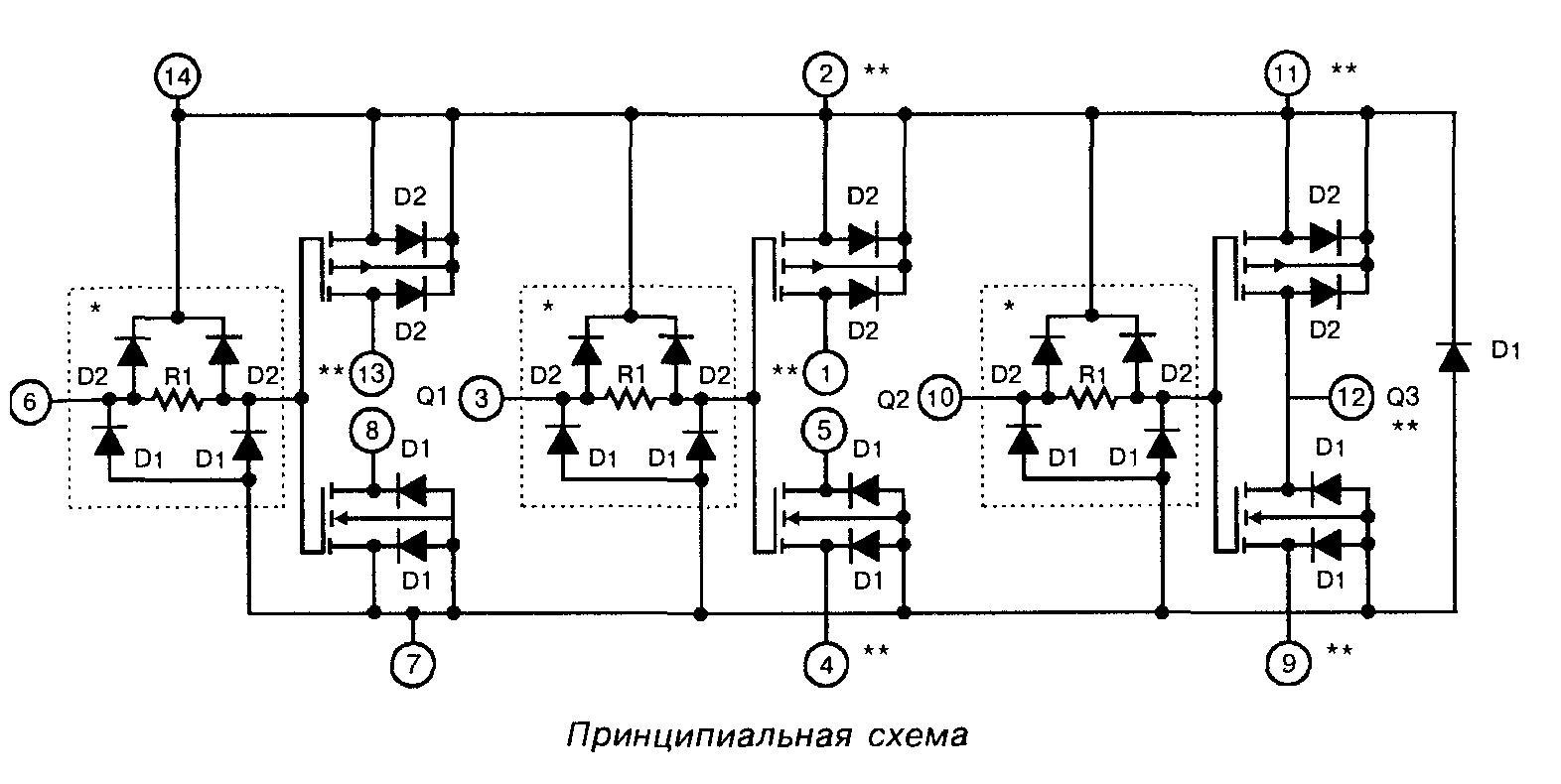 4007 - принципиальная схема