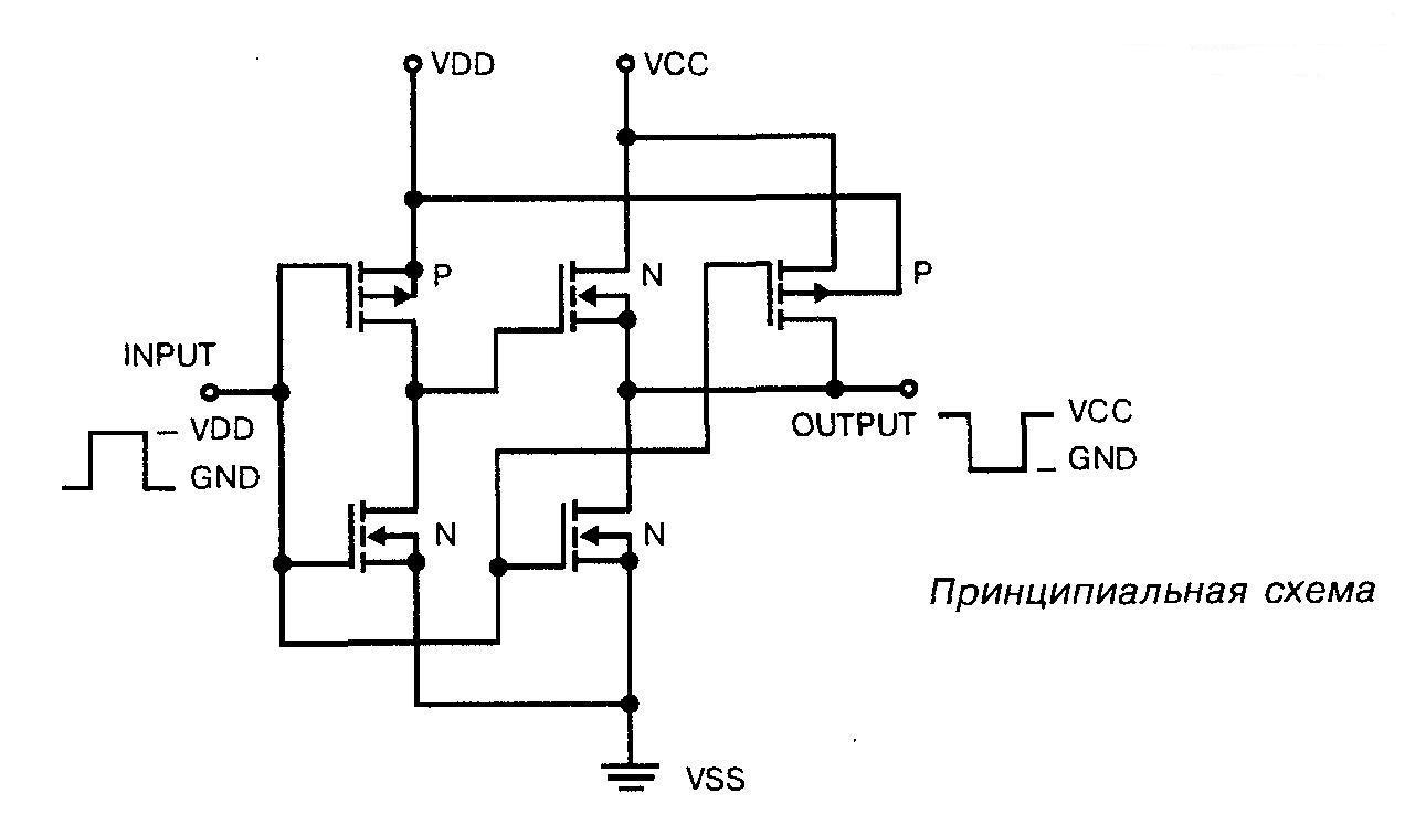 4009 - принципиальная схема
