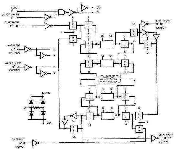 Микросхема 40100 - функциональная схема